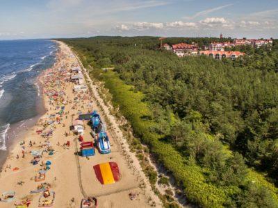 Krynica Morska plaże bez tłoku