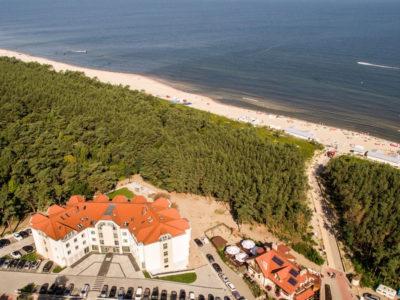 Krynica Morska hotel z widokiem na morze