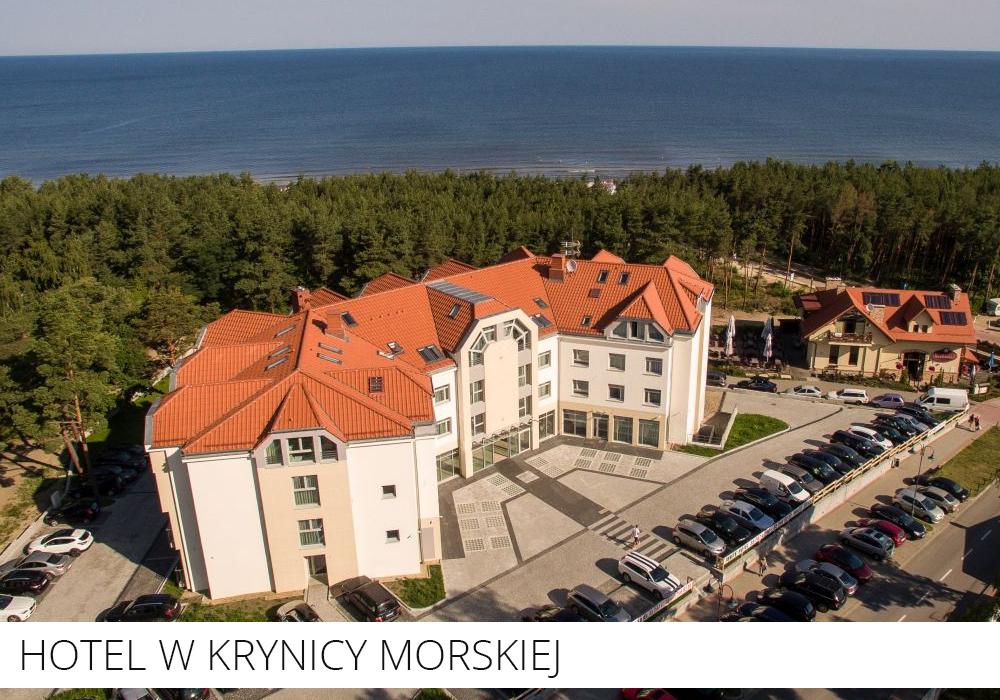 Hotel Krynica Morska przy plaży